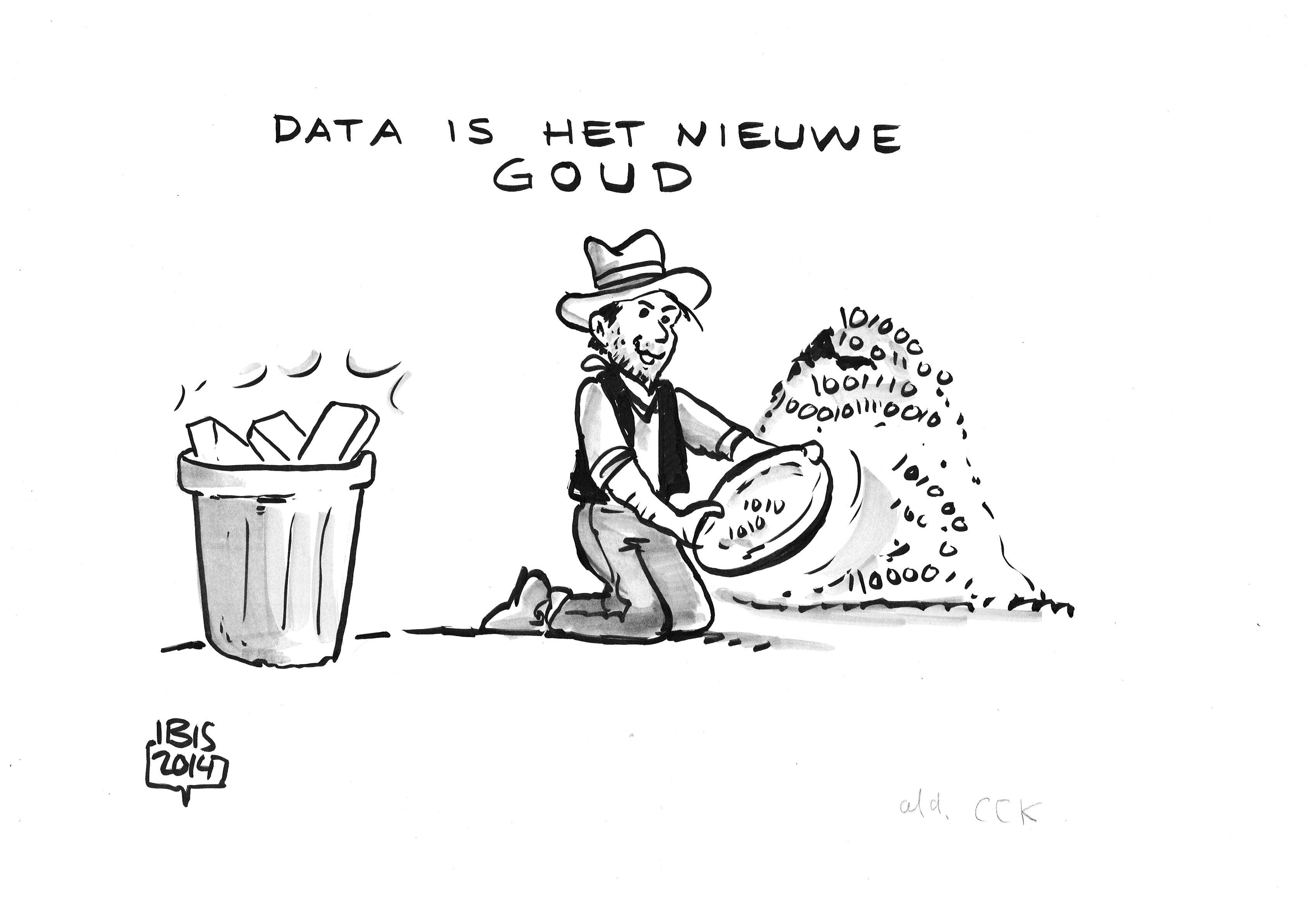 Live cartooning: Data is het nieuwe goud
