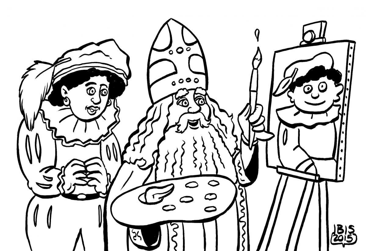 Sinterklaas Kleurplaat Voor De Kleintjes