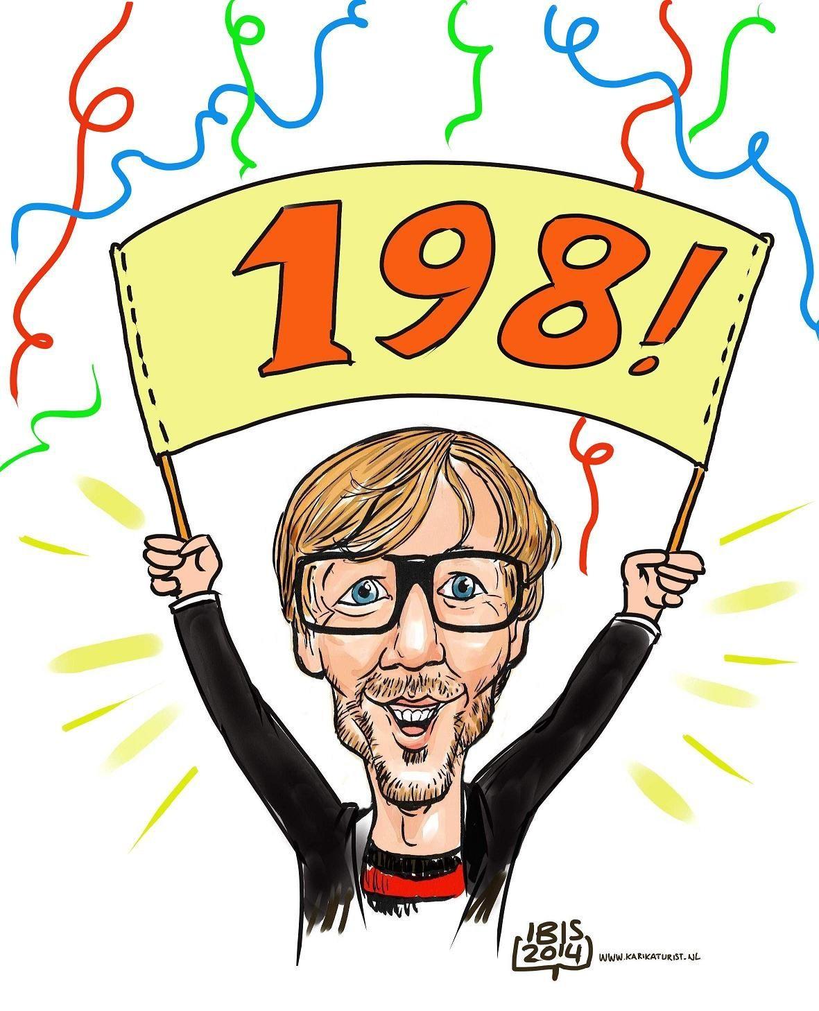 Karikatuur van foto: Giel Beelen