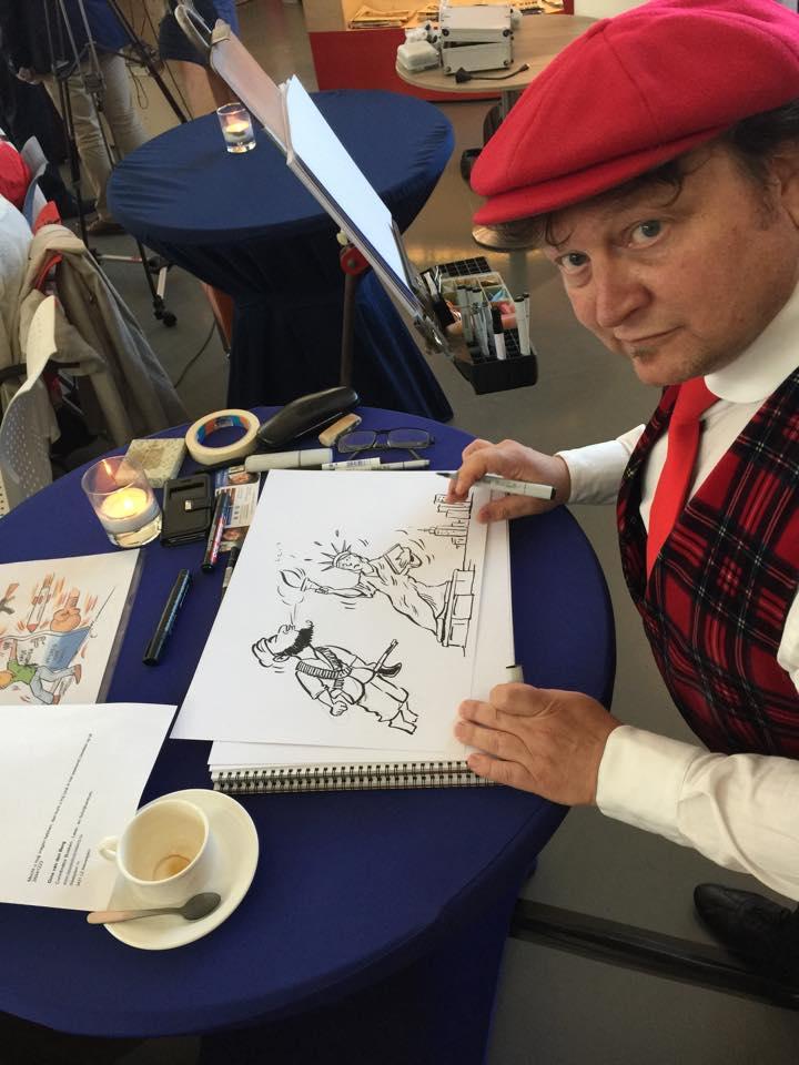 Live cartooning: debat in beeld