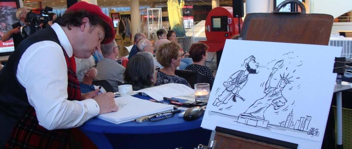 Live cartooning: Meningsuiting