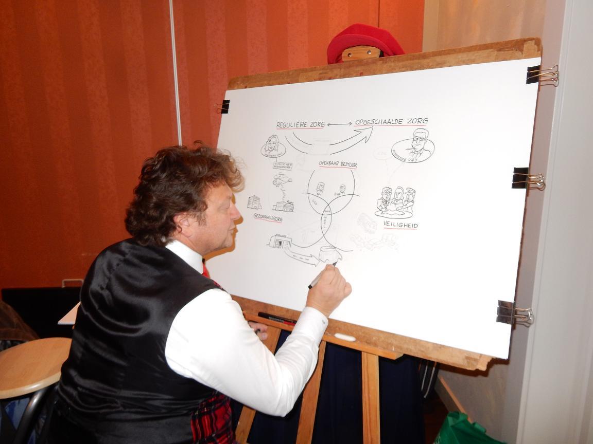 Live cartooning: U praat, ik teken